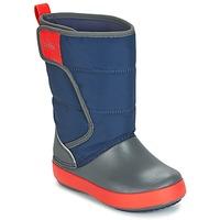 Schuhe Kinder Schneestiefel Crocs LODGEPOINT SNOW BOOT K Marine