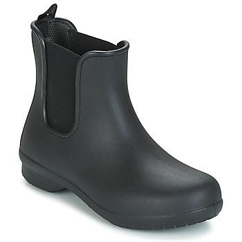Schuhe Damen Boots Crocs CROCS FREESAIL CHELSEA Schwarz