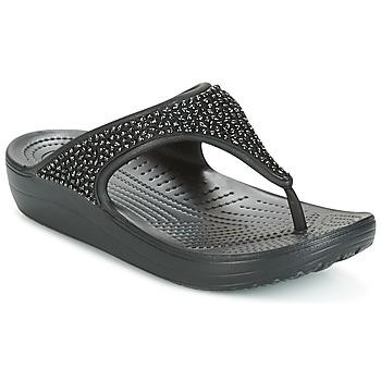Schuhe Damen Sandalen / Sandaletten Crocs SLOANE Schwarz