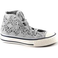 Schuhe Mädchen Sneaker High Converse 356871C silber weiß grau weiße Spitze Mädchenschuhe All-Star-Mi Grigio