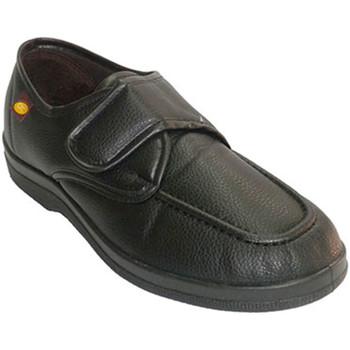 Schuhe Herren Slipper Doctor Cutillas Simulieren Schuh Mann Schuh mit Klettver Schwarz