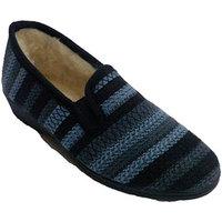 Schuhe Damen Hausschuhe Made In Spain 1940 Geschlossener Schuh auf den Seiten nach Blau