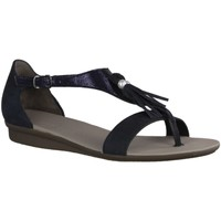 Schuhe Damen Sandalen / Sandaletten Paul Green 6069-019- Damenschuhe Top Trends, Blau, leder (softnubuk/crack) 534