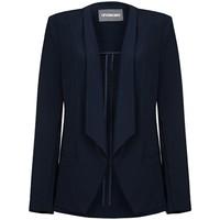 Kleidung Damen Jacken / Blazers Anastasia -Woman Marineblau Ungef�tterte Wasserfalljacke Blue