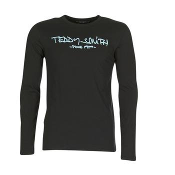 Kleidung Herren Langarmshirts Teddy Smith TICLASS 3 ML Schwarz
