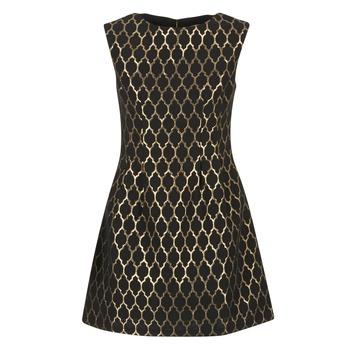 Kleidung Damen Kurze Kleider Molly Bracken DIRCO Schwarz / Gold