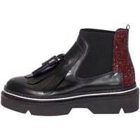 Schuhe Damen Low Boots Emporio Di Parma 751 Schwarz und Bordeaux