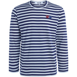 Kleidung Herren Langarmshirts Comme Des Garcons Langarmhemd  mit Linienmuster, mit Blue