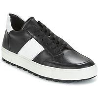 Schuhe Herren Sneaker Low Bikkembergs TRACK-ER 966 LEATHER Schwarz / Weiss
