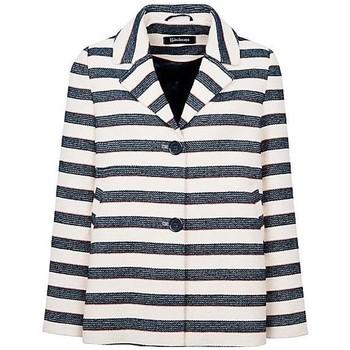 Kleidung Damen Jacken / Blazers Anastasia - Stripe Damen Sommer Box Jacke Blue