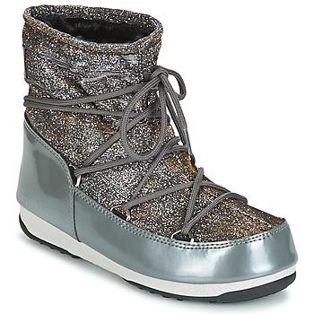 Schuhe Damen Schneestiefel Moon Boot MOON BOOT LOW LUREX Grau / Silbern