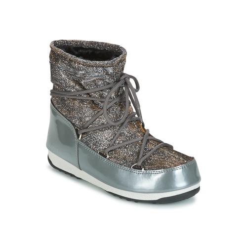 Moon Stiefel MOON Stiefel LOW Schneestiefel LUREX Grau   Silbern  Schuhe Schneestiefel LOW Damen 19bea1