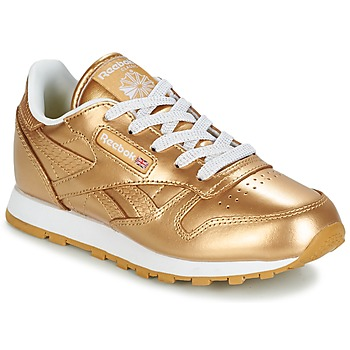 Schuhe Mädchen Sneaker Low Reebok Classic CLASSIC LEATHER MET Gold