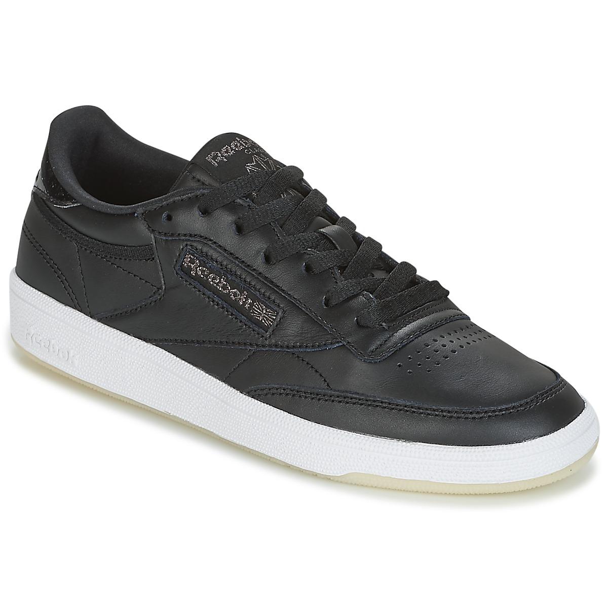 Reebok Classic CLUB C 85 LTHR Schwarz - Kostenloser Versand bei Spartoode ! - Schuhe Sneaker Low Damen 63,00 €