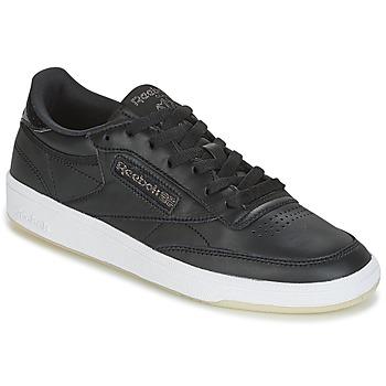 Schuhe Damen Sneaker Low Reebok Classic CLUB C 85 LTHR Schwarz
