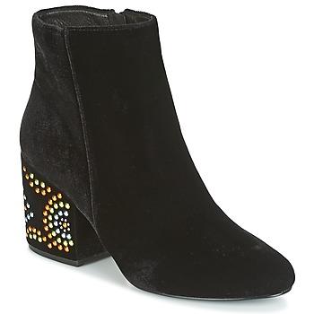 Schuhe Damen Low Boots Café Noir GIROU Schwarz