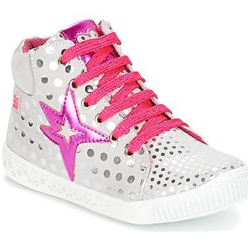 Schuhe Mädchen Sneaker High Agatha Ruiz de la Prada FLOW Silbern