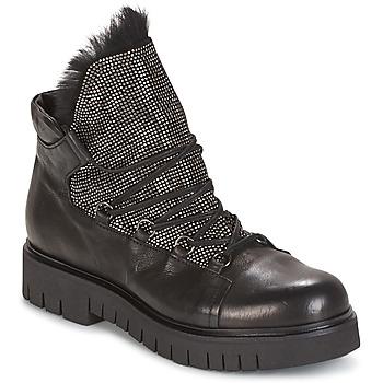 Schuhe Damen Boots Now BIANCO Schwarz