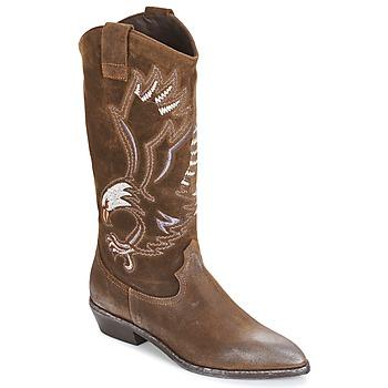 Schuhe Damen Klassische Stiefel Now SATURNA Braun