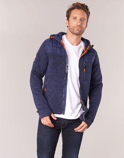 Kleidung Herren Sweatshirts Superdry MOUNTAIN QUILTED SHERPA Marine