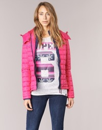 Kleidung Damen Daunenjacken Superdry FUJI BOX QUILTED Rose