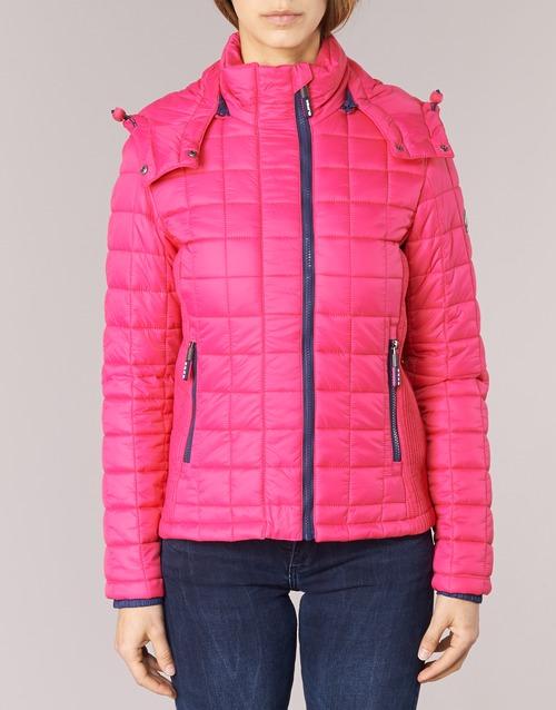 Superdry FUJI BOX QUILTED Rose - Kostenloser Versand    - Kleidung Daunenjacken Damen 9746 4NWLo