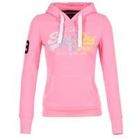 Kleidung Damen Sweatshirts Superdry VINTAGE LOGO STRIPE FADED Rose