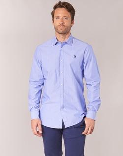 Kleidung Herren Langärmelige Hemden U.S Polo Assn. RUSTY Marine