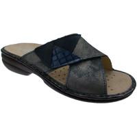 Schuhe Damen Pantoffel Calzaturificio Loren LOM2657bl blu
