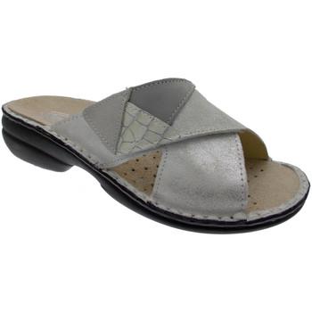 Schuhe Damen Pantoffel Calzaturificio Loren LOM2657bi bianco