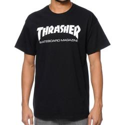 Kleidung Herren T-Shirts Thrasher CAMISETA  SKATE MAG NEGRO HOMBRE Schwarz