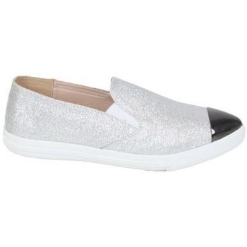 Schuhe Damen Slip on Kebello Sneakers 80126 silbern