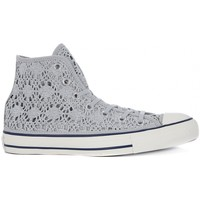 Schuhe Sneaker High Converse ALL STAR HI  CROCHET Argento