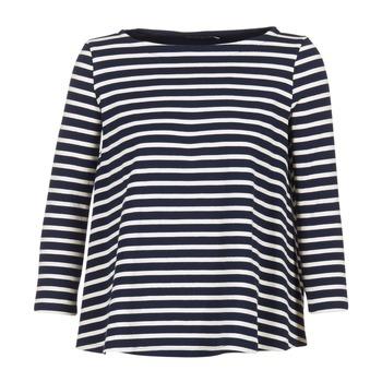 Kleidung Damen Tops / Blusen Petit Bateau LAURENI Weiss / Marine
