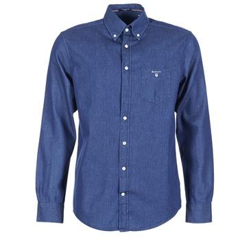 Kleidung Herren Langärmelige Hemden Gant THE INDIGO SHIRT Blau