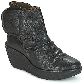 Schuhe Damen Low Boots Fly London YOMI Schwarz