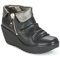 Schuhe Damen Boots Fly London YOXI Schwarz / Silbern