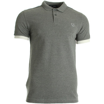 Kleidung Herren T-Shirts & Poloshirts Fred Perry Taped Pique Shirt Steel Marl