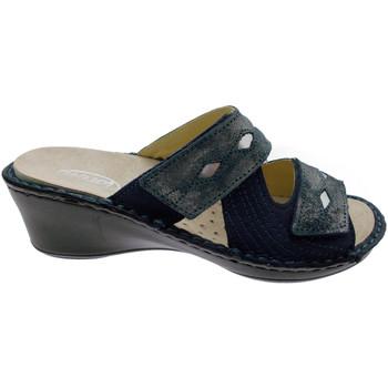 Schuhe Damen Pantoffel Calzaturificio Loren LOM2653bl blu