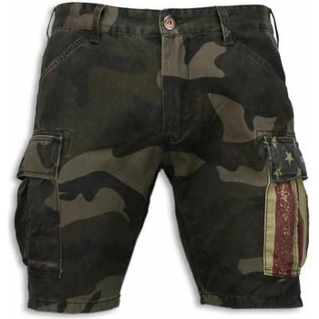 Kleidung Herren Shorts / Bermudas Bb Bread & Buttons Kurze Hosen Camouflage Shorts Army Grün