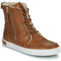 Schuhe Damen Sneaker High Blackstone CW96 Braun
