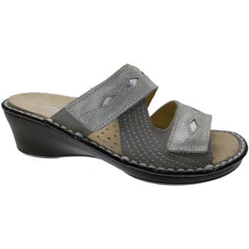Schuhe Damen Pantoffel Calzaturificio Loren LOM2653gr grigio