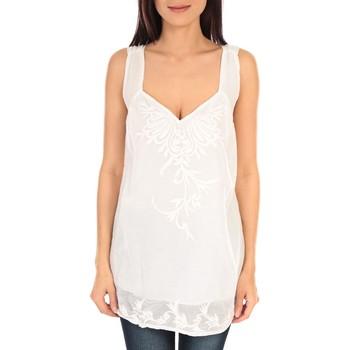 Kleidung Damen Tops Vision De Reve vision de rêve débardeur SC9020 blanc Weiss