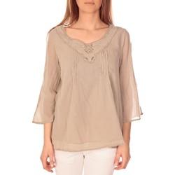 Kleidung Damen Tops / Blusen Vision De Reve vision de rêve tunique 9005 Taupe Grau