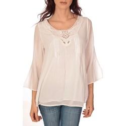 Kleidung Damen Tops / Blusen Vision De Reve vision de rêve tunique 9005 blanc Weiss