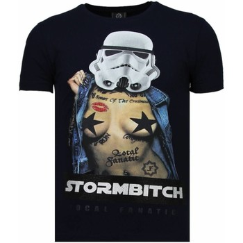 Kleidung Herren T-Shirts Local Fanatic Stormbitch Strass Blau