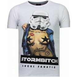 Kleidung Herren T-Shirts Local Fanatic Stormbitch Strass Weiß