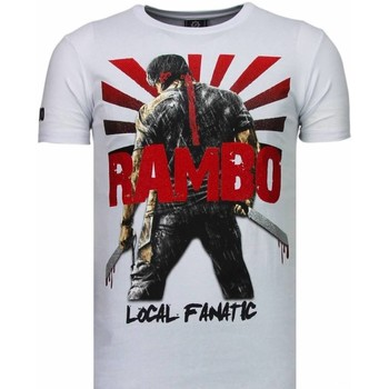 Kleidung Herren T-Shirts Local Fanatic Rambo Shine Strass Weiß