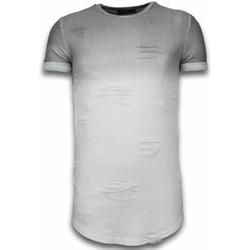 Kleidung Herren T-Shirts Justing Flare Effect Long Dual Ed Weiß, Grau