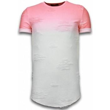 Kleidung Herren T-Shirts Justing Flare Effect Long Dual Ed Rosa